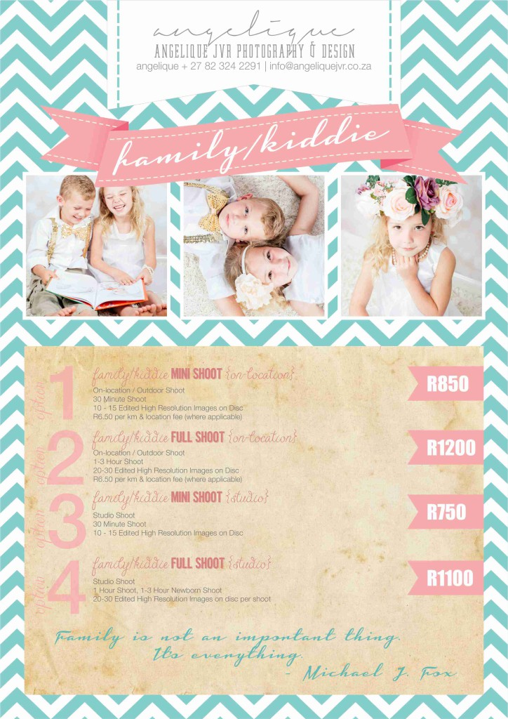 Photography Packages 2015 - Family&Kiddie