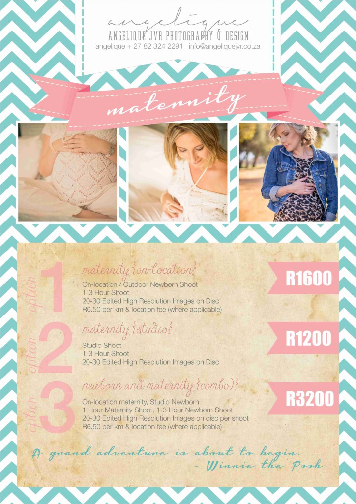 Photography Packages 2015 - Maternity