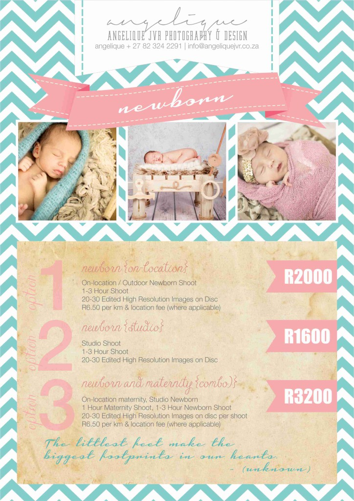 Photography Packages 2015 - Newborn